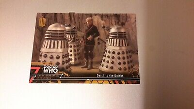 Doctor Who Extraterrestial Encounters BASE CARD 59 GOLD PARALLEL 1/1 DEATH DALEK