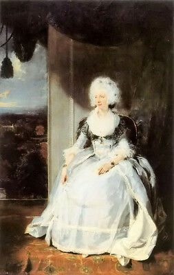 Dream-art Oil painting sir thomas lawrence - queen charlotte lady portrait art