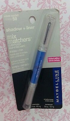 Maybelline Mix Matcher EyeShadow & Liner SILVER SORBET & LICORICE #50 NEW Carded