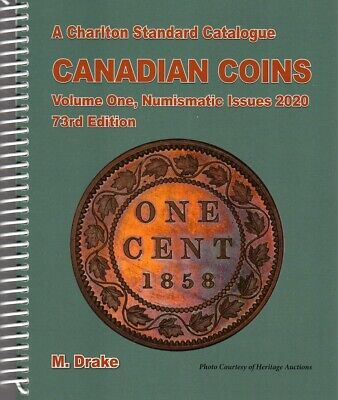 New 2020 Canada Charlton Standard Coin Catalogue Volume #1, Numismatic Issues