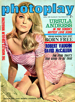 Photoplay Magazine Sharon Tate Cover & Centerfold   Natalie Wood  Ursula Andress