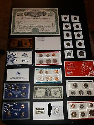 COIN LOT BIG collection MINT SETS PROOF WHEAT CENT train SILVER C NO JUNK DRAWER