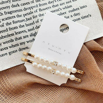 2019 Hot Women Pearl Crystal Hair Clip Hairband Comb Bobby Pin Barrette Hairpin