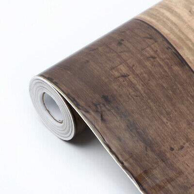 PVC Wood Grain Wall Stickers Vinyl Art Decorative Wallpaper Waterproof 0.45x10m