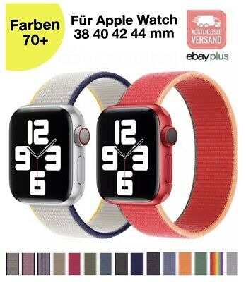 ✅ Für Apple Watch Armband Nylon iWatch Serie 5/4/3/2 Sport Loop 38 40 42 44 mm ✅