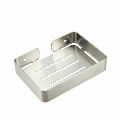 Soap Dish Holder SUS304 Stainless Steel Wall Mounted Tray (Wire Drawing)