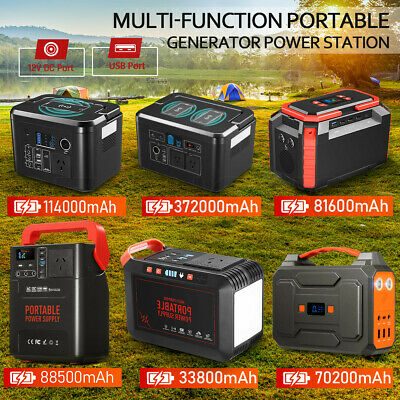 Portable Generator Power Bank Station Camping Backup Energy Charger Storage