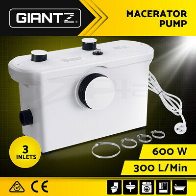 Macerator Sewerage Pump Waste Water Marine Toilet Disposal Unit Laundry Basement