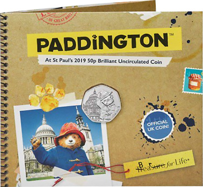 2019 Paddington Bear at St Paul's Brillaint (BU) 50p in Royal Mint Presentation