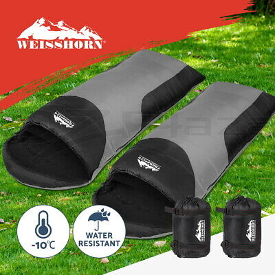 Weisshorn 2X Sleeping Bag Bags Single Camping Hiking -10°C Tent Winter Thermal