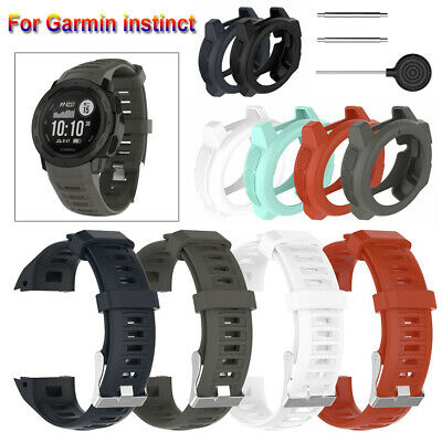 Wristbands Soft 22mm Strap Watch band Silicone Case Cover For Garmin Instinct