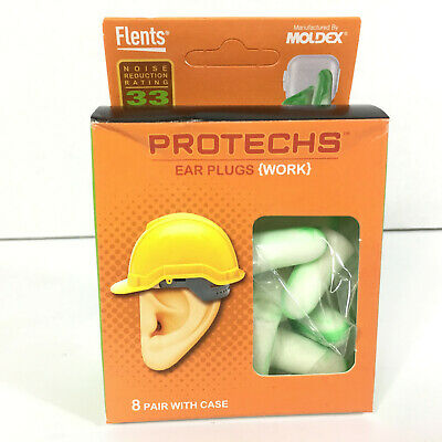 Flents Protechs Ear Plugs 16 PAIRS Noise Reduction 33 Sleep Machinery Work NEW
