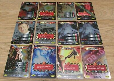 Lot of 12 Dr Who Battles In Time Trading Cards Holographic Rare Cards (2)