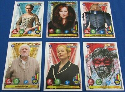 Six Doctor Who Alien Amries Trading Cards Including Holographic Panini BBC 2004