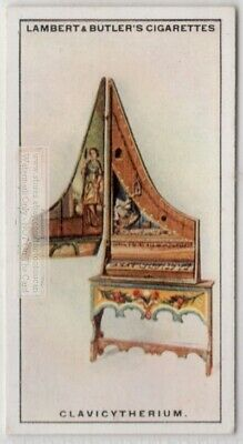 Clavicytherium Harpsichord Music Instrument 1920s Ad Trade Card