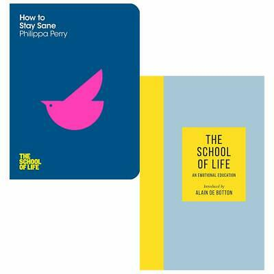How To Stay Sane, School of Life An Emotional Education 2 Books Collection Set