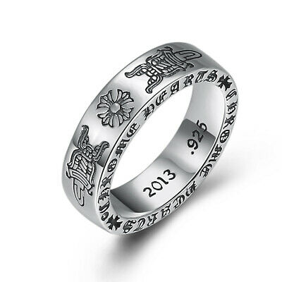 S925 silver ring personality holy sword cross vintage men's and women's ring