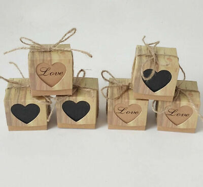 100pcs Kraft Paper Chocolate Candy Boxes Wedding Party Baby Shower Favor Gift