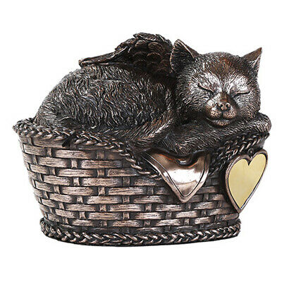 Angel Cat Sleeping Urn For Cremations Ashes Statue Pet Memorial Figurine
