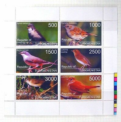 TURKMENISTAN 1998 Beautiful Birds Sheetlet U/M BH469