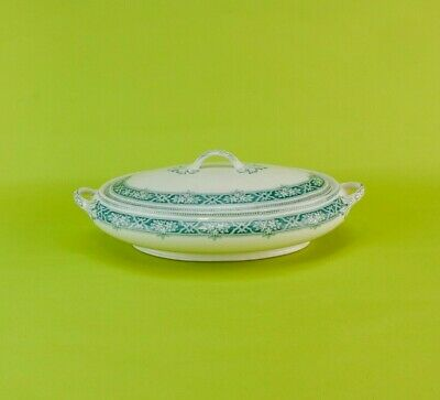 Antique Neo-Classical Alfred Meakin TUREEN Lennox Serving Dinner 1910 Green