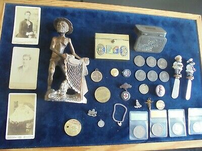 Quality Job Lot Of Antique/Vintage Collectables Military/Coins/Oriental 575 X