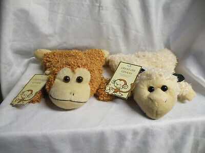 Child's Hot Water Bottles with Sheep & Monkey Covers