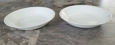 "Corelle large 8.5"" 20-Ounce  Salad Pasta Bowl, Winter Frost White lot of 2 NEW"