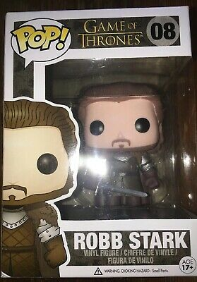 Funko Pop! Game of Thrones: Robb Stark #08 Man Cave Decor Christmas Gift Toy NIB