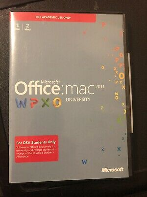 Microsoft Office Mac 2011 University Works On 2 Macs 1 User Laptops Computers