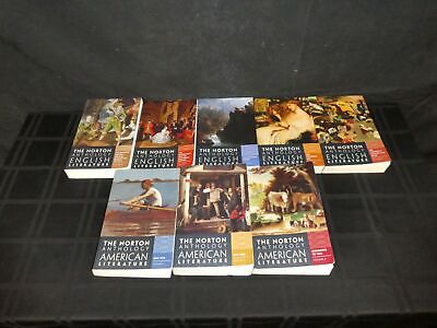 Lot Of 8 Norton Anthology Of American / English Literature, 8th & 9th Ed. (390)