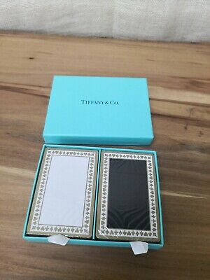 Tiffany & Co. Playing Cards. Double Pack Sealed & Unopened - Black & White