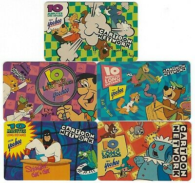 Cartoon Network Phone Cards Group of 5