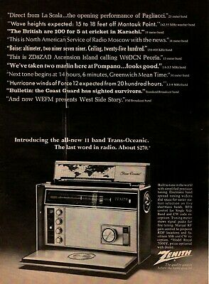 1969 Zenith Royal 7000Y 11 Band Trans-Oceanic World Shortwave Radio Print Ad