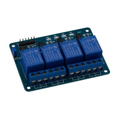 MODULO RELE 5V 10A DE 4CANALES PARA ARDUINO ARM PIC AVR DSP RELAY 4Channel