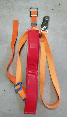 Tree Fall Protection Rock Climbing Rappelling Harness And Lanyard Used OR0919