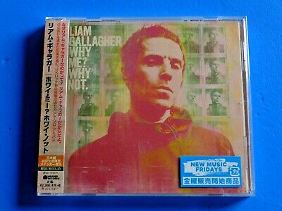 2019 JAPAN CD LIAM GALLAGHER WHY ME? WHY NOT. w/FIRST PRESS STICKER INSERTED