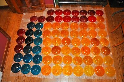 Selling Entire Vintage Glass Traffic Signal Lens Collection, 91 Pieces Total