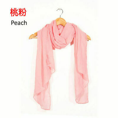 Popular Colorful New Scarves Lady Women Long Soft Cotton Scarf Wrap Shawl Stole