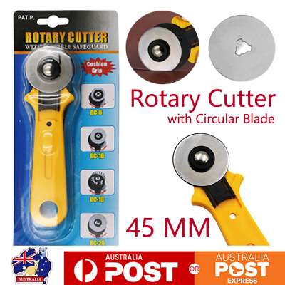 45mm Rotary Cutter Leather Cloth Cutting Tool Quilter Sewing Fabric Craft&Blades