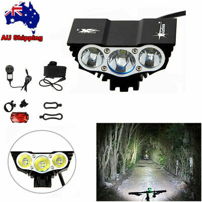 SolarStorm 10000LM X3 XML LED Bike Bicycle Front MTB Head Light Lamp Rear Light
