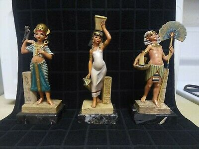 """Excellent Condition Egyptian """"Simonelli"""" Statues No. 121, 122 and 124"""