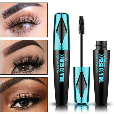 Black 4D Silk Fiber Eyelash Mascara Extension Kit Make-up Waterproof Eye Lashes