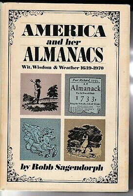 1970 Americana Almanacs History Weather Prediction Book Dj Illustrations