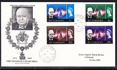 St Vincent 1966 Winston Churchill  First Day Cover to London