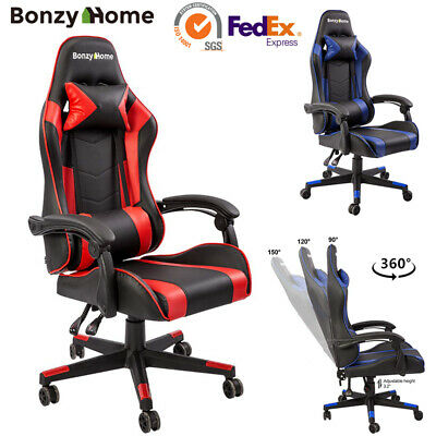 Racing Gaming Chair Ergonomic High Back Office PC Executive 360 Swivel Recliner