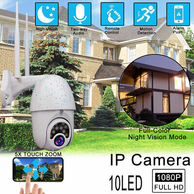 1080P WIFI IP Camera Wireless Smart Outdoor CCTV HD Home Security IR Night Cam