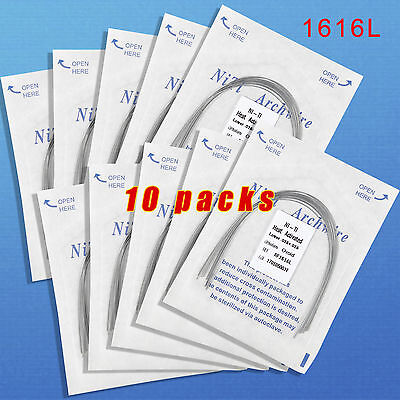 10Packs Dental Orthodontic Heat Thermal Activated Niti Rectangular Arch Wire UK