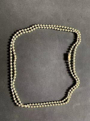 Sterling Silver 925 Ball Chain 1 pc with clasp connector. 65cm