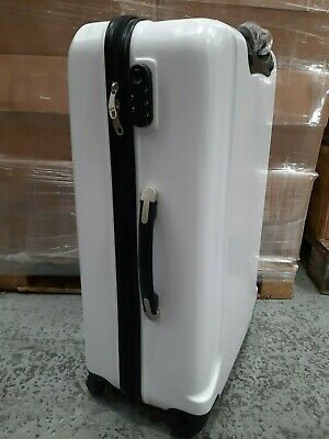 NEW Large White Suitcases Job Lot - Multiples of 8 or 16